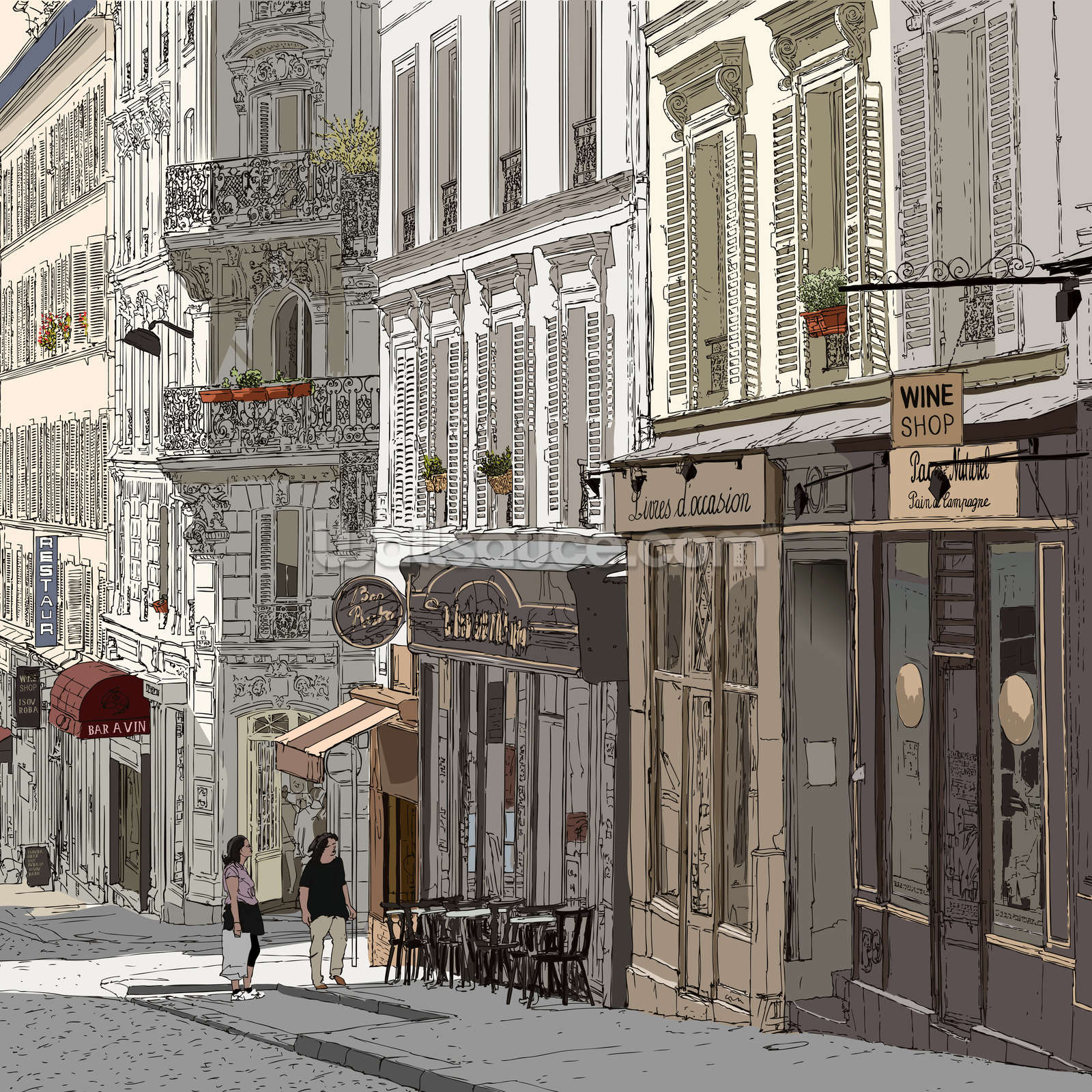 Montmartre paris wallpaper wall mural wallsauce usa montmartre paris wall mural photo wallpaper amipublicfo Image collections