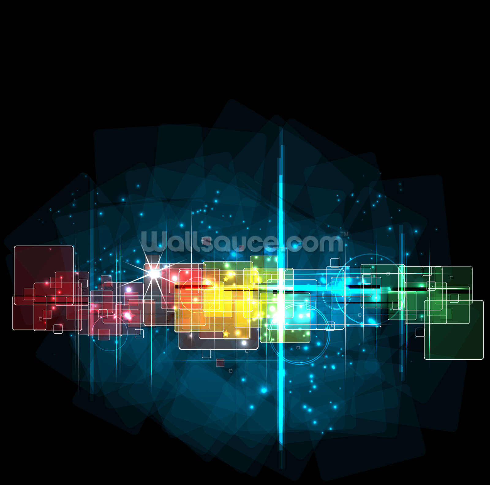 Abstract space illustration wallpaper wall mural for Abstract mural wallpaper