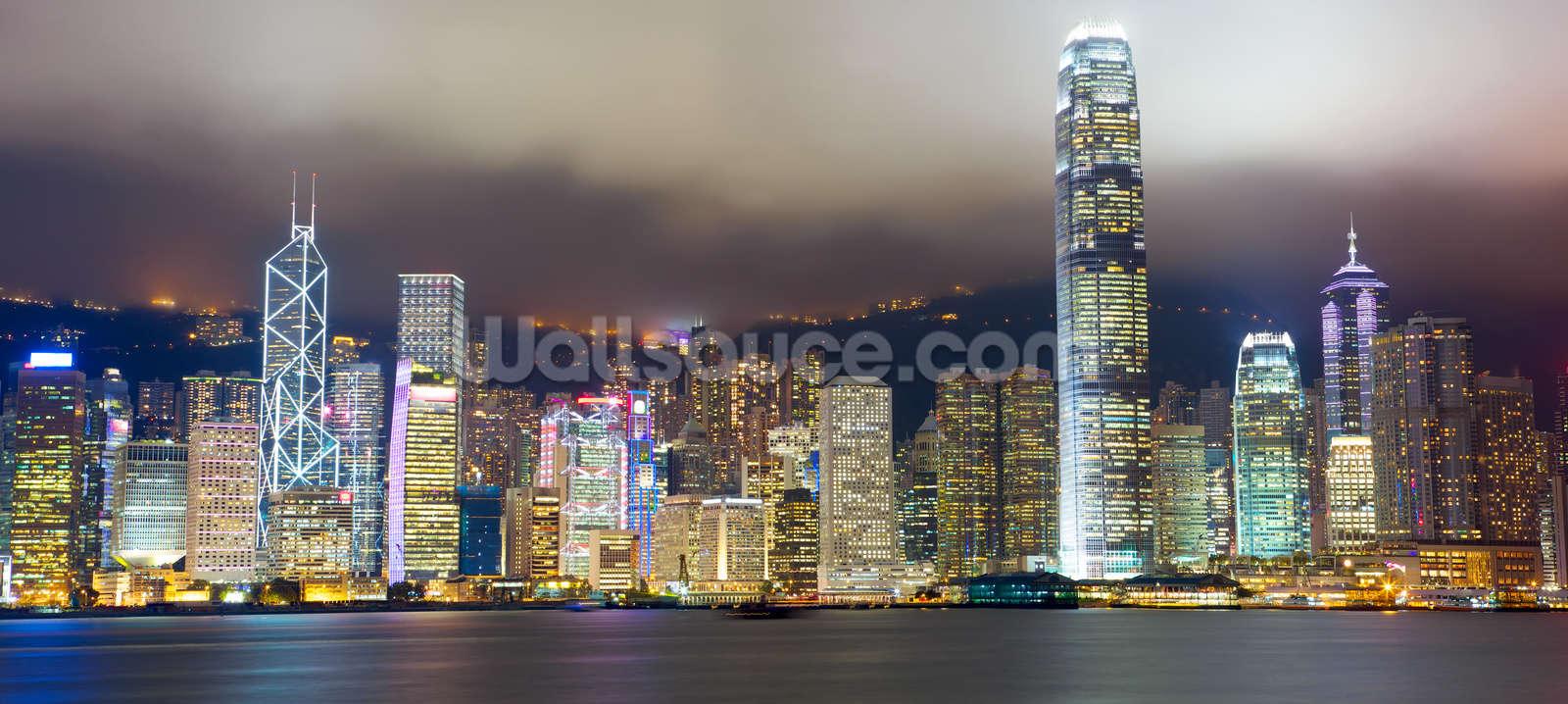 Hong Kong Skyline Wallpaper Wall Mural Wallsauce Usa