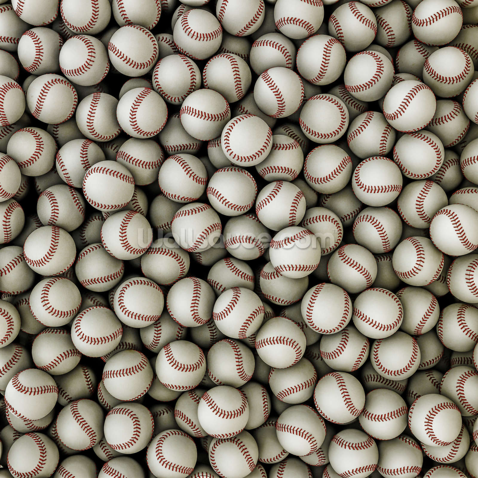 Baseballs background wallsauce usa for Baseball mural wallpaper