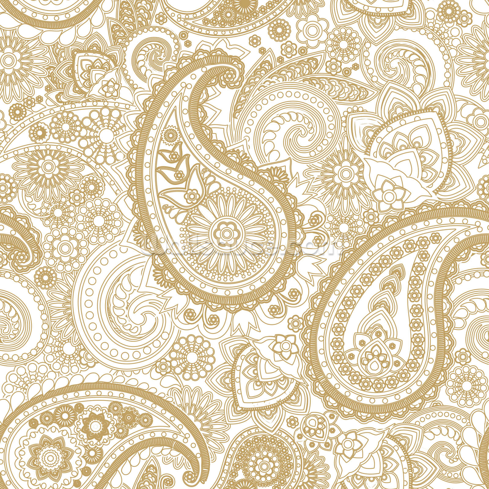 Paisley wallpaper wall mural wallsauce usa for Paisley wallpaper