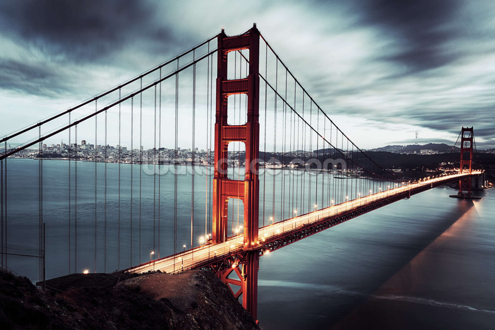 golden gate bridge wallpaper wall mural wallsauce usa golden gate bridge wall mural photo wallpaper