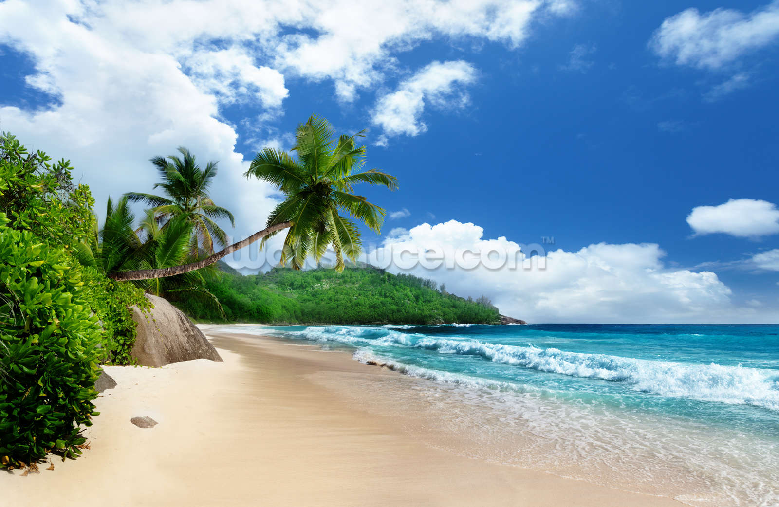 Mahe Island Beach Seychelles Wallpaper Wall Mural