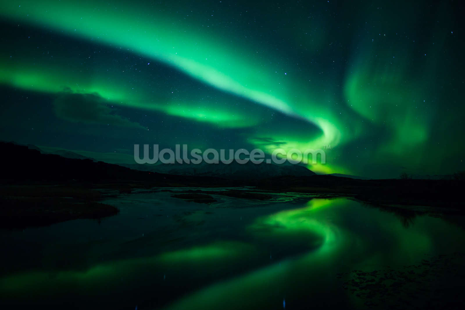 Northern Lights, Iceland Mural Wallpaper
