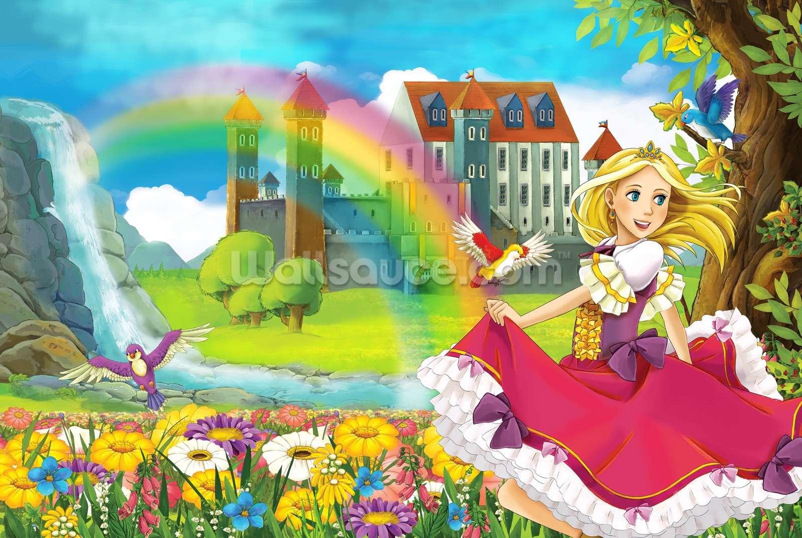 Beautiful princess wallpaper wall mural wallsauce usa for Beautiful wall mural