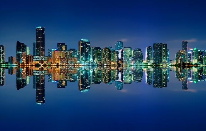 Miami Skyline Wallpaper Mural