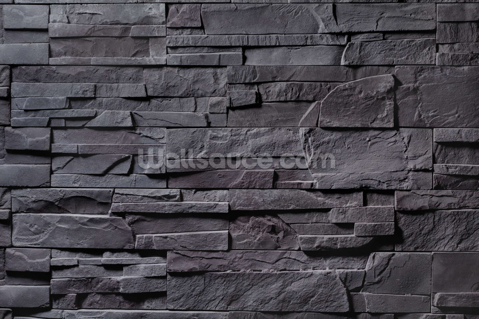 stone wall charcoal grey wallpaper wall mural wallsauce usa. Black Bedroom Furniture Sets. Home Design Ideas