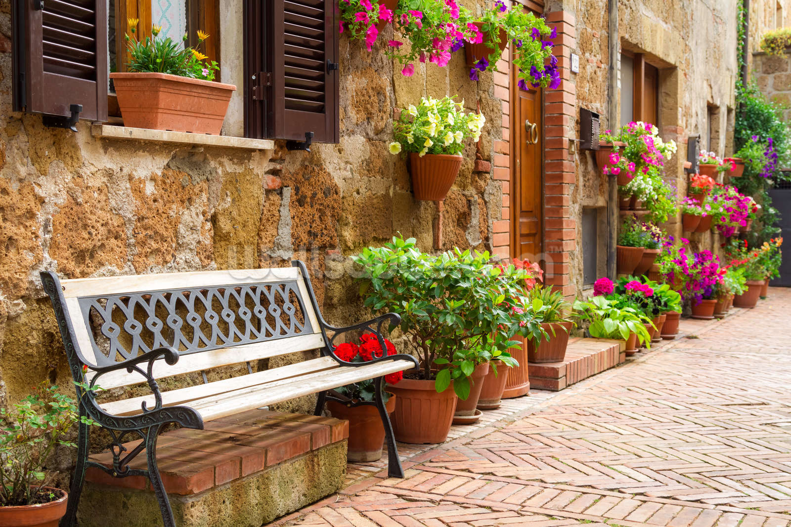 Italy wallpaper wall murals wallsauce usa a place to sit wall mural amipublicfo Image collections