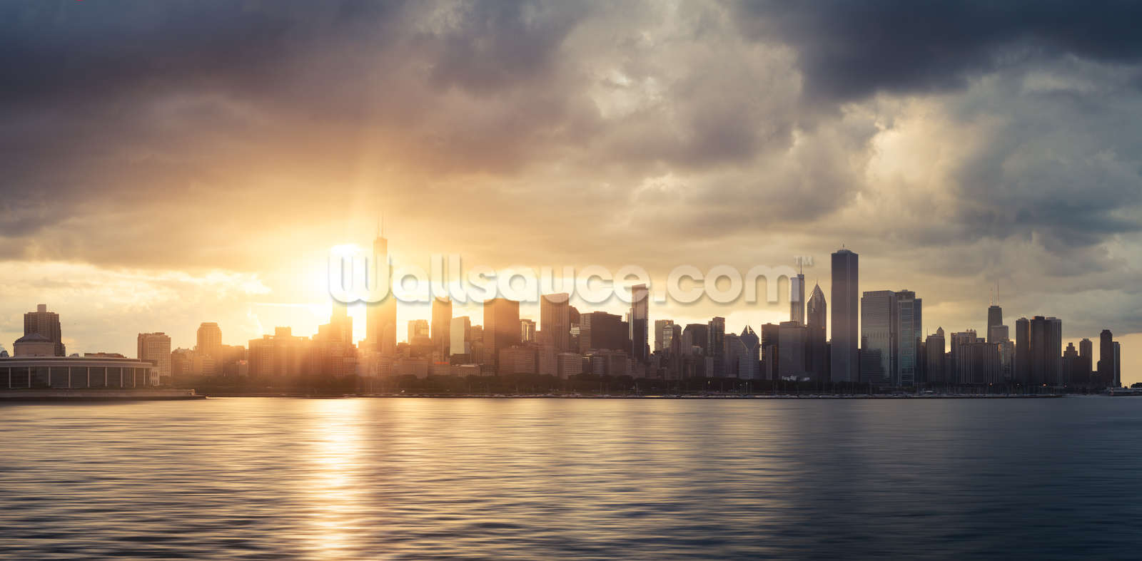 ... Amazing Chicago Skyline Wall Mural Pictures Part 67
