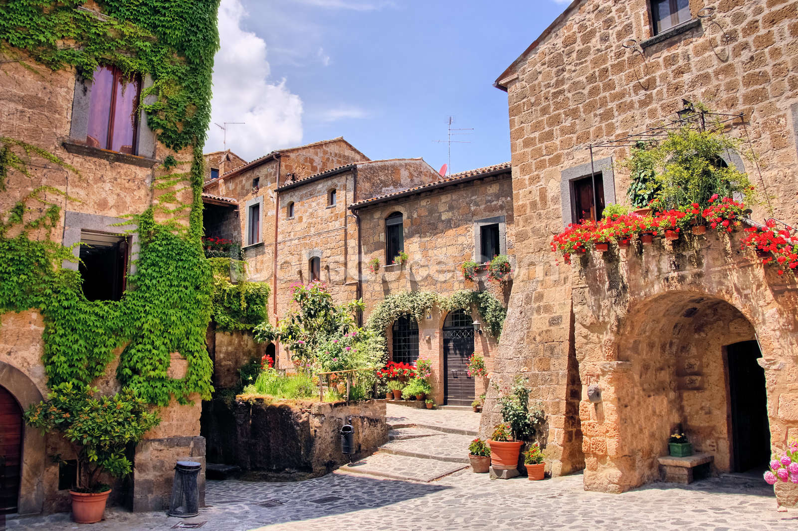 Italian old town wallpaper wall mural wallsauce usa italian old town wall mural photo wallpaper amipublicfo Image collections