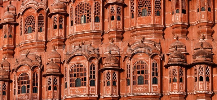 Hawa mahal jaipur wallpaper wall mural wallsauce for Wallpaper for home walls jaipur