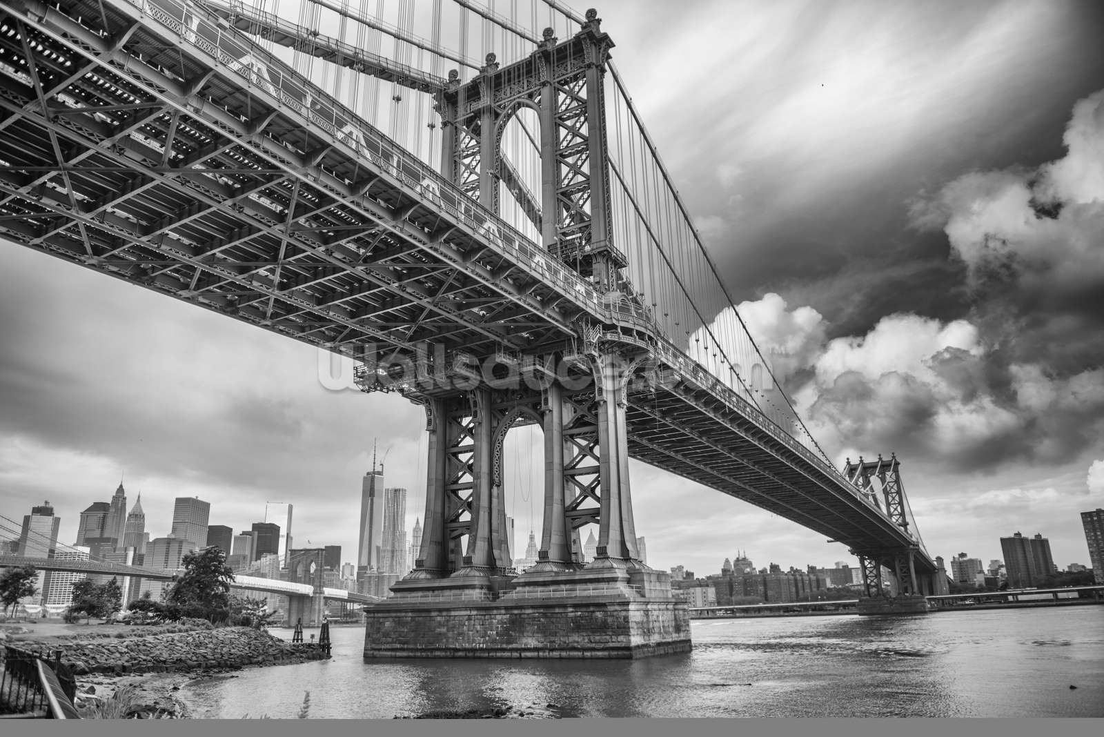 new york bridge wallpaper wall mural wallsauce canada new york bridge wall mural photo wallpaper