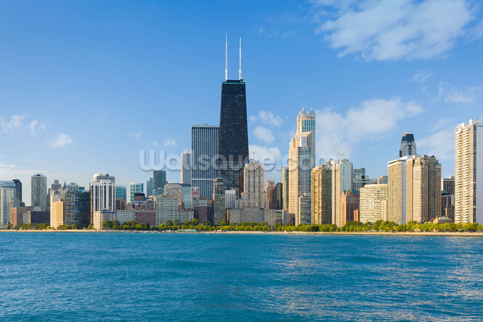 Cityscape Of Chicago Wallpaper Wall Mural Wallsauce Usa