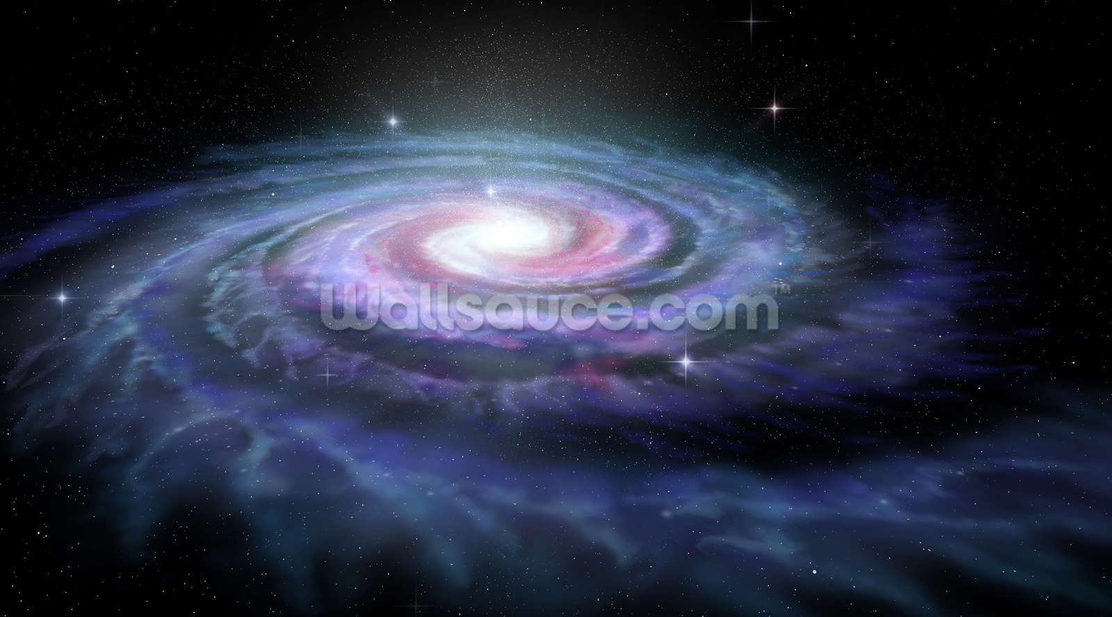 space wallpaper wall murals wallsauce usa spiral galaxy milky way wall mural wallpaper