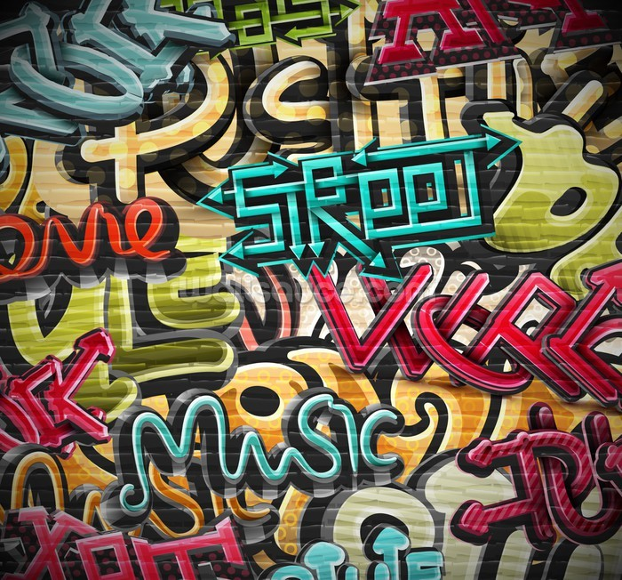 Graffiti art wallpaper for walls - Graffiti Street Wall Mural Photo Wallpaper