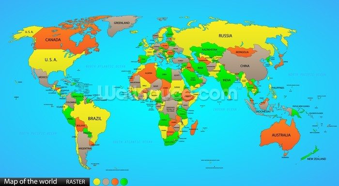 New Zealand Location On World Map.Political World Map