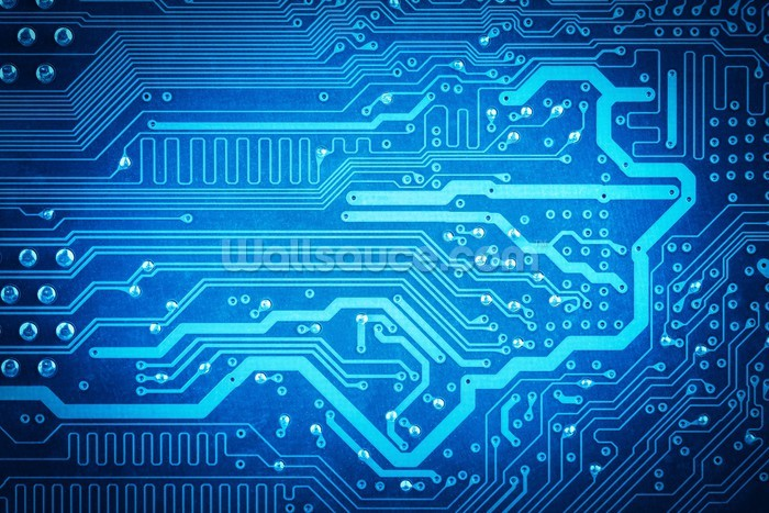 Circuit board background | Wallsauce New Zealand