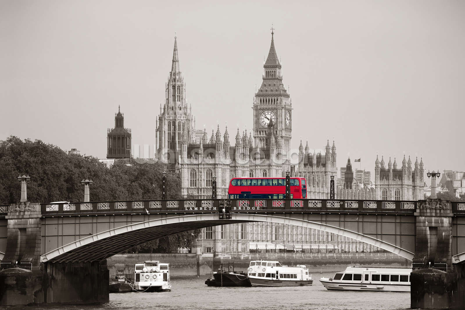 London bus on lambeth bridge wall mural wallpaper wallsauce europe london bus on lambeth bridge wall mural photo wallpaper amipublicfo Choice Image