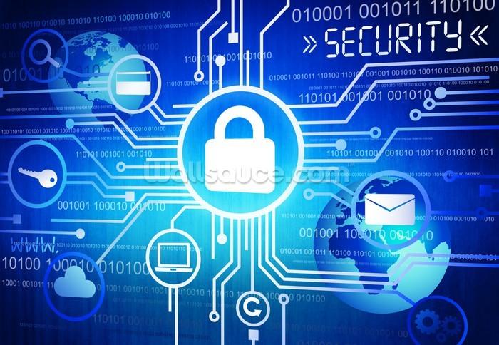 Internet Security System Wallpaper Mural