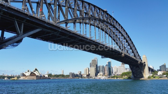 sydney s harbour bridge wall mural sydney s harbour wall mural sydney skyline australia australia