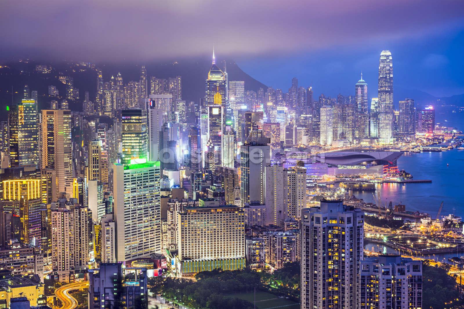 Hong Kong Island Skyline Wallpaper Wall Mural Wallsauce Usa