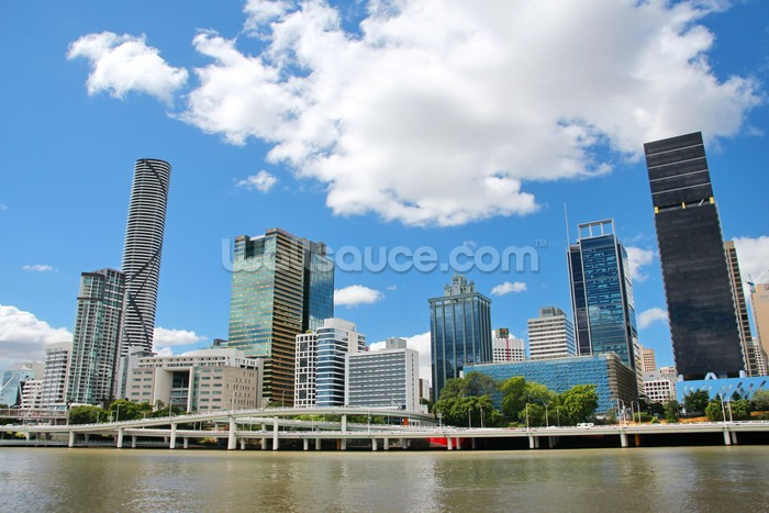 Brisbane Cityscape Wallpaper Mural