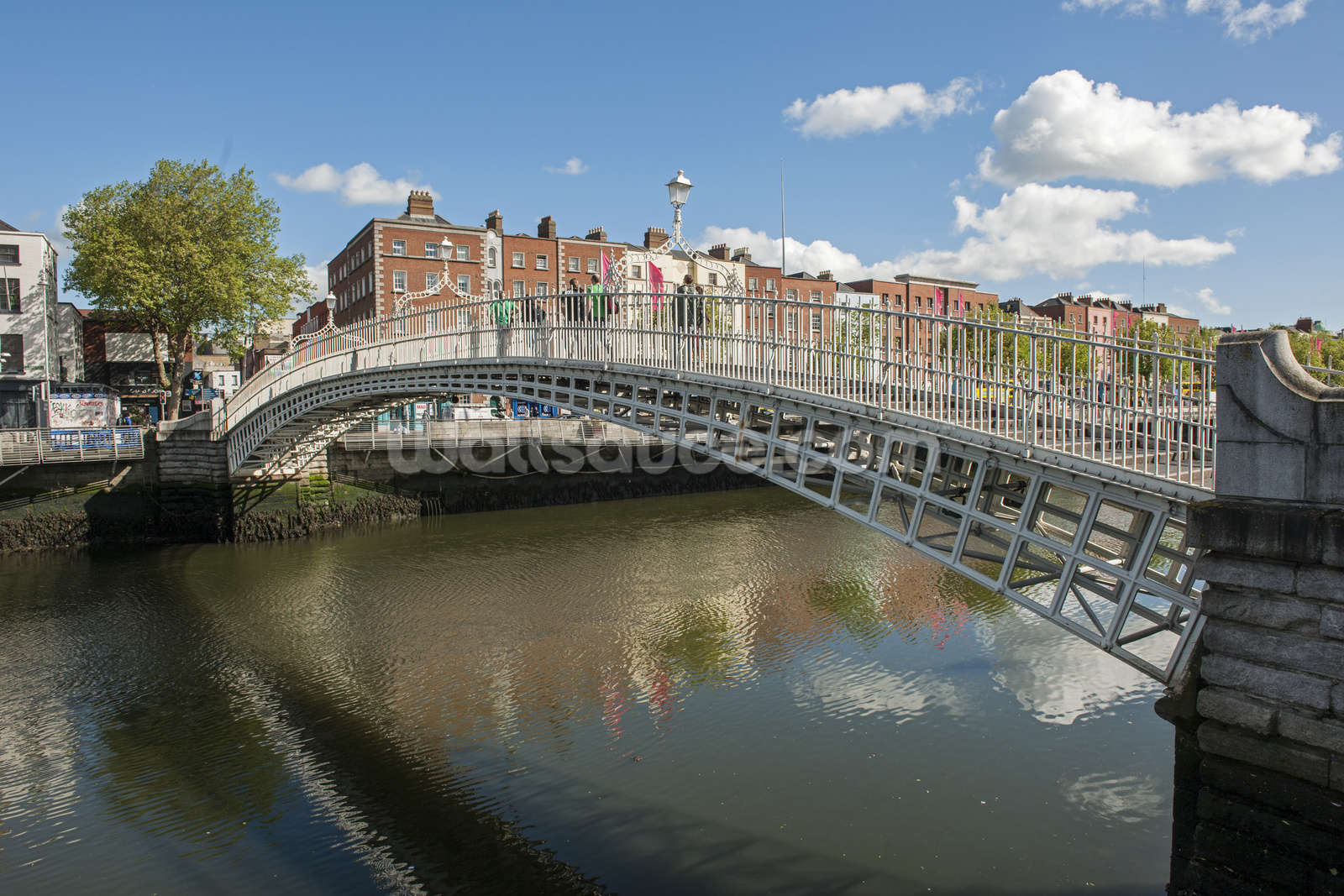 Hapenny bridge in dublin wallpaper wall mural wallsauce for Dublin wall mural