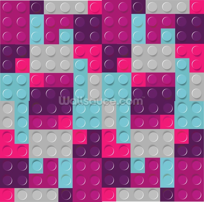 Lego Purples Effect Wallpaper Wall Mural | Wallsauce Canada