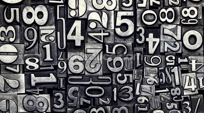 Old metal numbers wallpaper wall mural wallsauce usa - Number wallpaper ...