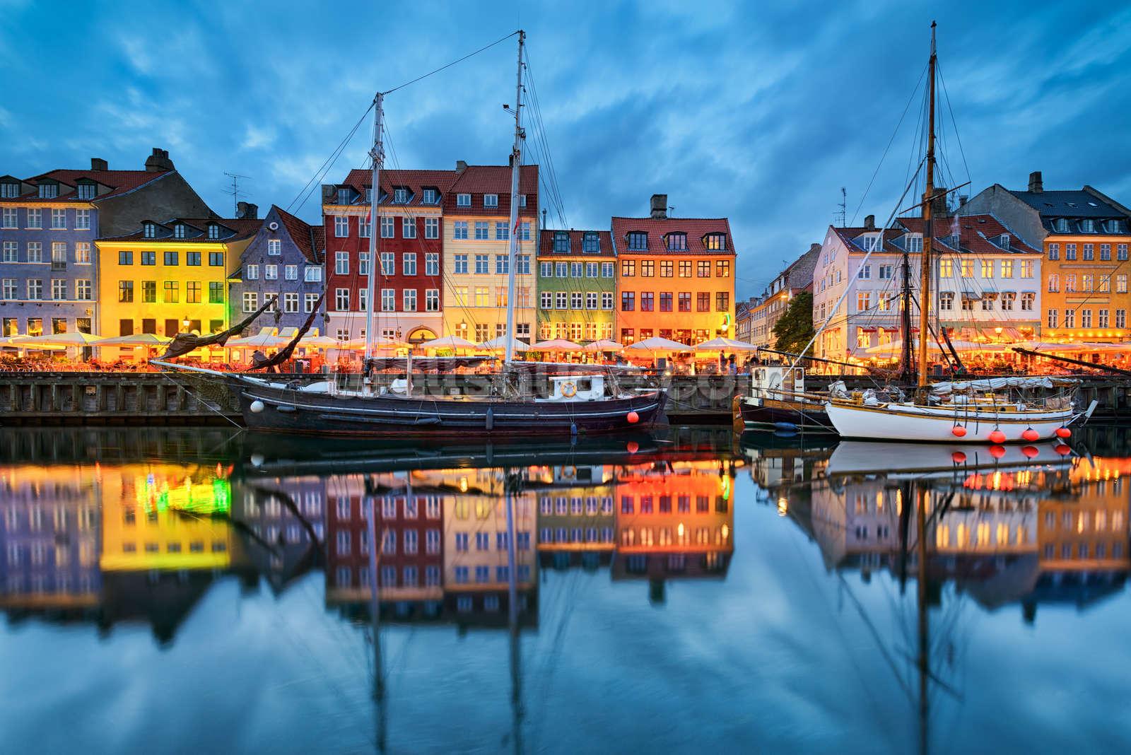 Beautiful nyhavn in copenhagen wall mural wallpaper wallsauce au - Copenhagen wallpaper ...