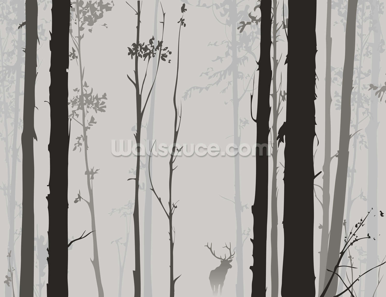 Forest Silhouette Wallpaper Wall Mural