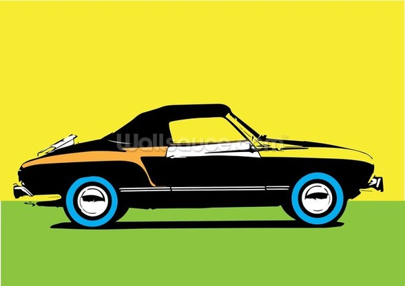 Pop Art - Car mural wallpaper