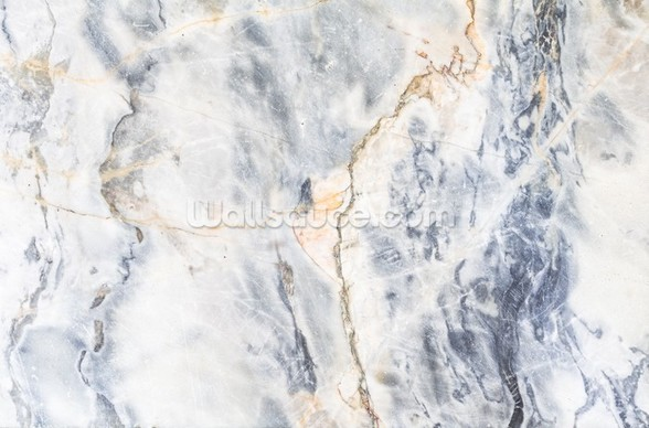 White and Blue Marble Effect wall mural