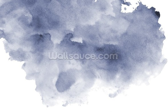 Blue and Black Watercolor Wallpaper mural wallpaper