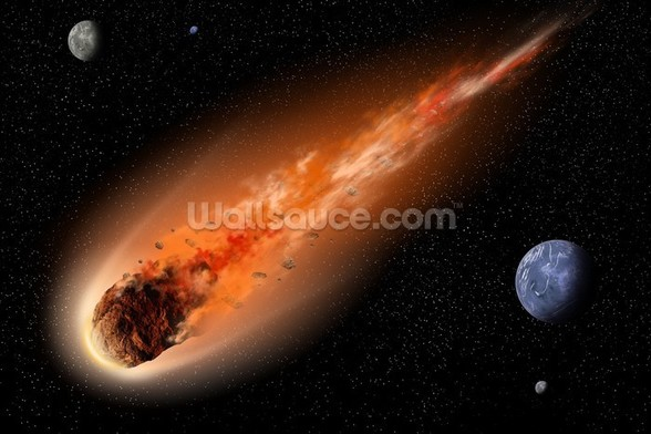Asteroid in Space wallpaper mural