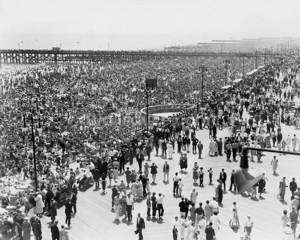 Coney Island on July 4th 1936 wall mural