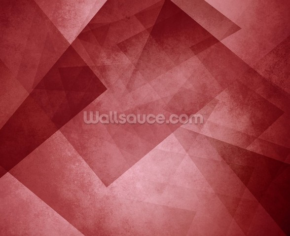 Red Triangles wallpaper mural