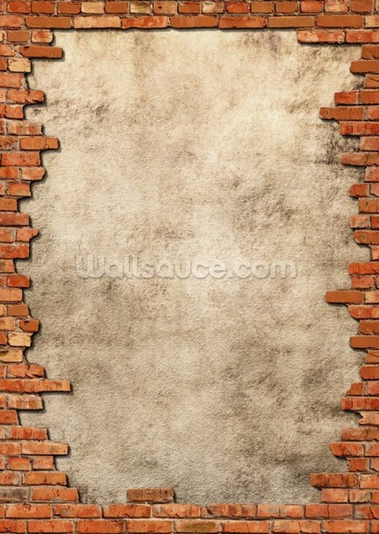Brick Wall Frame mural wallpaper