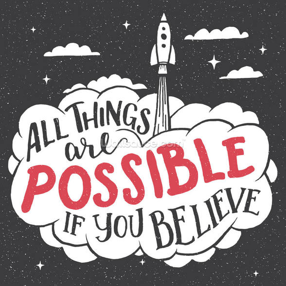 All Things are Possible mural wallpaper