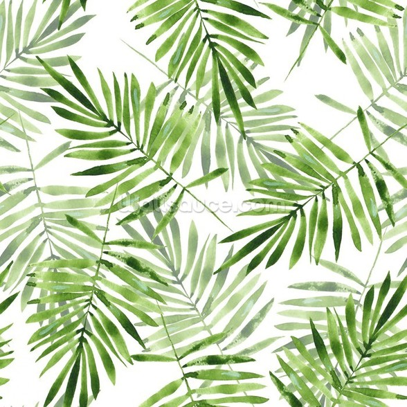 Green Palms mural wallpaper