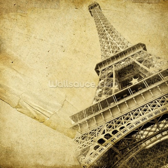Eiffel Tower Vintage mural wallpaper