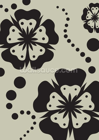 Black Poppies wallpaper mural
