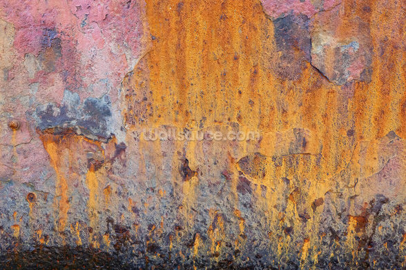 Coloured Rust wall mural
