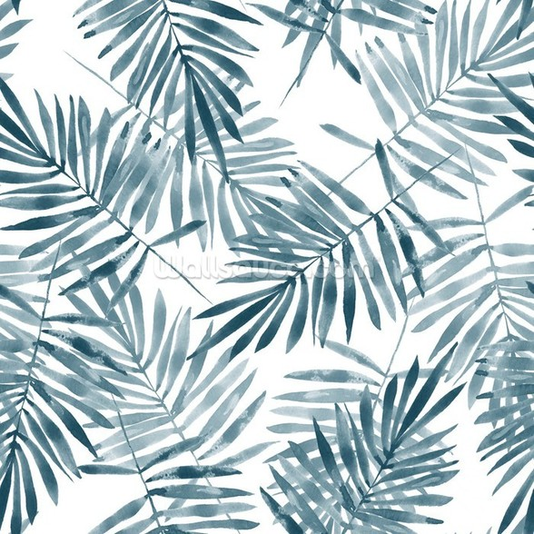 Palm Leaf Watercolour wall mural