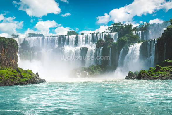 Iguazu Waterfalls in Brazil mural wallpaper