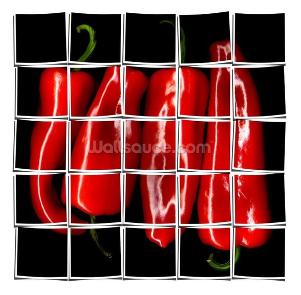 Red Paprika wall mural