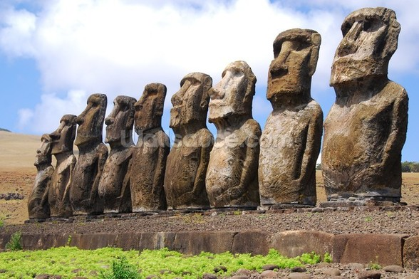 Easter Island mural wallpaper