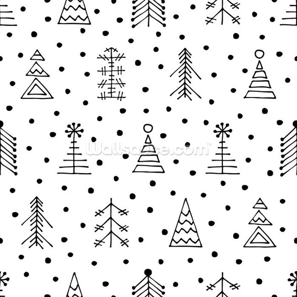 Dotty Christmas wallpaper mural