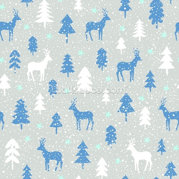 Snowbound Deer wallpaper mural