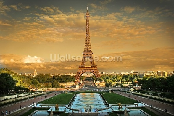 Eiffel Tower Paris wallpaper mural